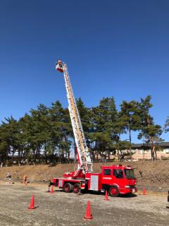 消防はしご車搭乗体験(わーくわくすざか2020)